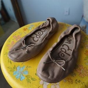 Sam Edelman Felicia Flat Classic Nude Leather 8M